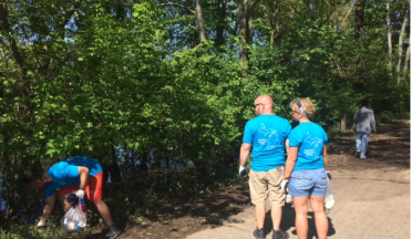 SalesPage Keeps Kalamazoo Beautiful Along the Kalamazoo River Valley Trail